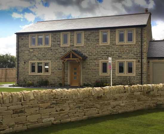 140mm blackened and tumbled walling stone
